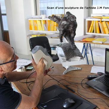 Scanner 3D pour création d'un fichier de sculpture numérique